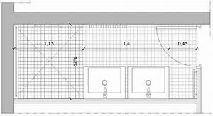Plan Petite Salle De Bain : une salle de bains couloir avec double vasque et douche ~ Melissatoandfro.com Idées de Décoration