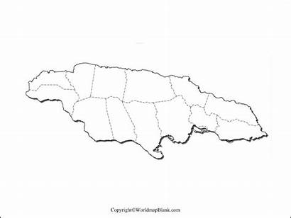 Jamaica Map Printable Blank Outline Political Drawing