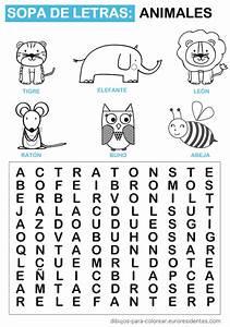 Sopa de letras de animales Manualidades