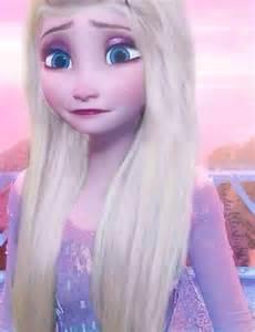 Elsa with Straight Hair