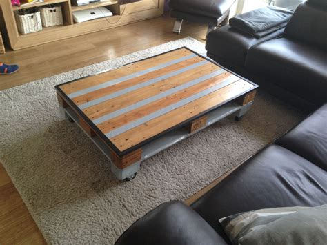 table basse palette industrielle table basse industrielle palette bois et m 233 tal meubles