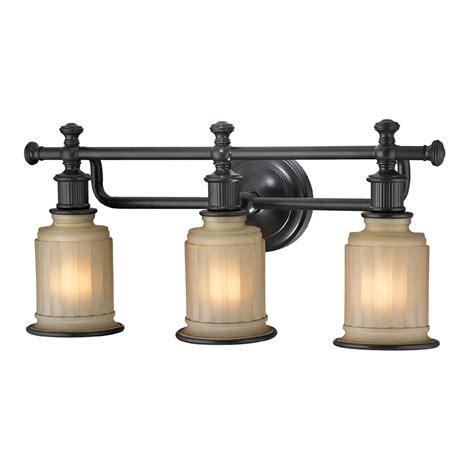 Bronze Bathroom Light Fixture by Elk 52012 3 Acadia Rubbed Bronze 3 Light Bath Lighting