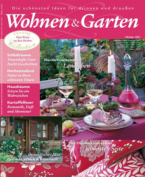 Zeitschrift Wohnen Und Garten  Haus Dekoration