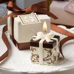 wedding favor box ivory and brown gift box collection candle favor wedding favors 1180917 weddbook