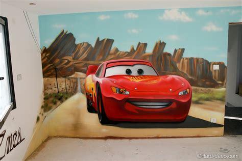 decoration chambre garcon cars fresque cars flash mc pour la chambre d 39 enes