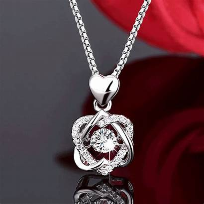 Silver Necklace Dancing Stone Soufeel Jewelry Accessories