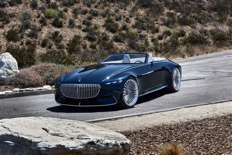 Vision Mercedes-maybach 6 Cabriolet Parades Glamour In