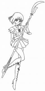Sailor Coloring Moon Saturn Deviantart Anime Patterns sketch template