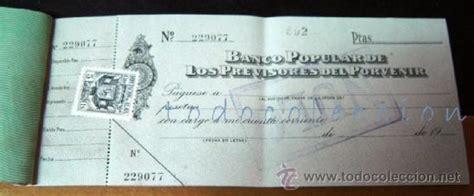 talonario de cheques antiguo banco popular de l - Comprar ...