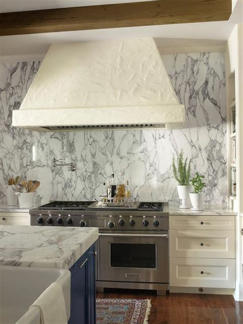 Kitchen Backsplash Tiles Ideas - ivory stucco kitchen hood design ideas