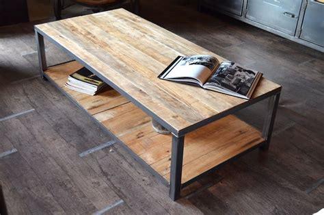 table basse palette industrielle table basse palette deco fer et bois table
