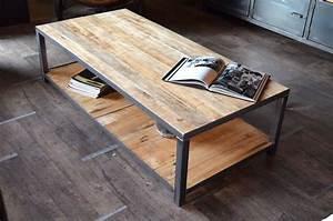 Table Basse Fer Et Bois : table basse palette deco fer et bois pinterest table basse palette table basse et palette ~ Teatrodelosmanantiales.com Idées de Décoration