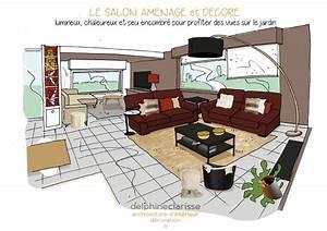 Aménagement D Un Salon : am nagement d 39 un salon ouvert sur le jardin architecture ~ Zukunftsfamilie.com Idées de Décoration