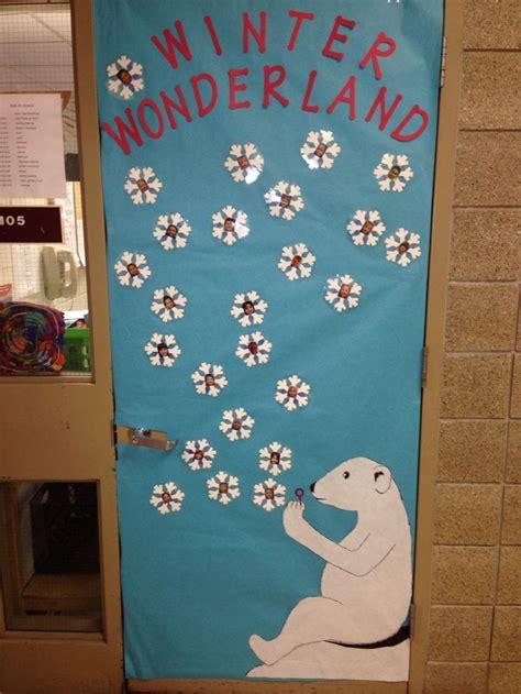 winter wonderland door decoration classroom displays