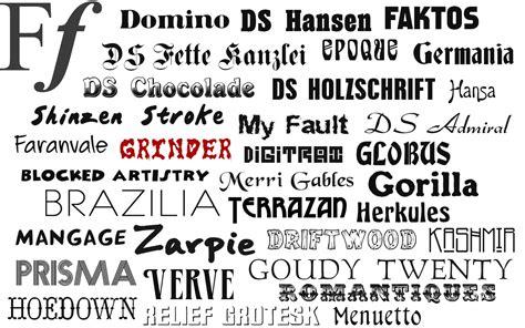 fonts   single