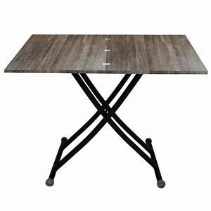 Table Basse Bois Et Noir : table relevable vintage tables relevables topkoo ~ Teatrodelosmanantiales.com Idées de Décoration