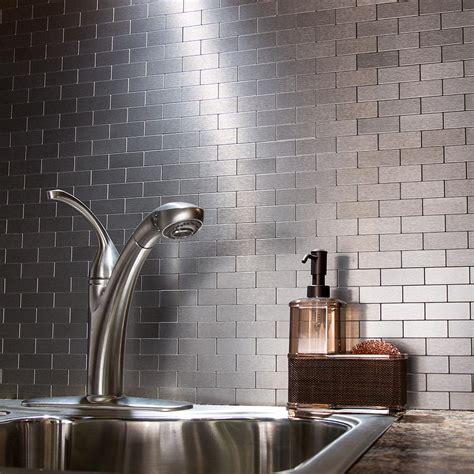peel  stick matted metal backsplash tiles aspect