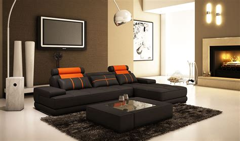 canape d angle orange deco in canape d angle moderne cuir noir et orange
