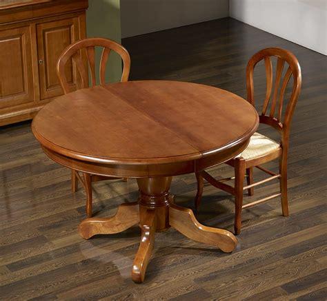 table ronde pied central en merisier massif de style louis philippe diam 232 tre 120 4