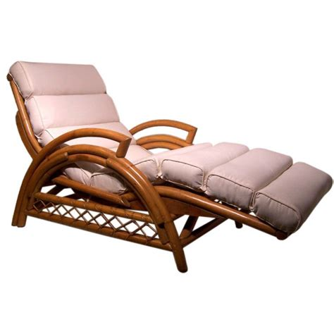 vintage rattan chaise lounge chair at 1stdibs