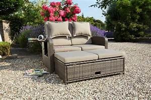 greemotion loungeset bahia rondo 9 tgl 1 bettsofa With französischer balkon mit sofa für garten