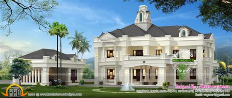colonial style indian house kerala home design floor plans