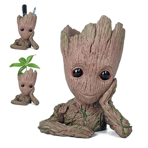 design groot cartoon tree man aquarium decoration fish