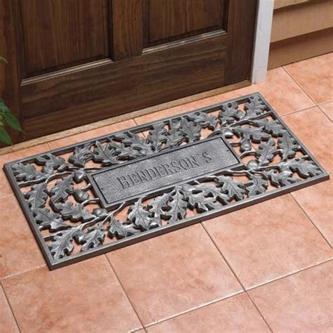 Outside Doormats by Aluminum Oak Leaf Personalized Doormat In Doormats