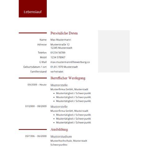 Lebenslauf Tabellarisch Kostenlos by Lebenslauf Design Moderne Tabellarische Vorlage