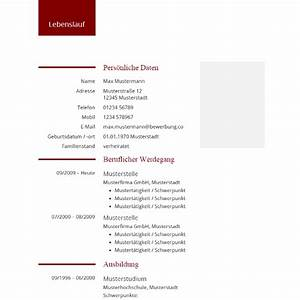 Lebenslauf design moderne tabellarische vorlage for Tabellarischer lebenslauf modern