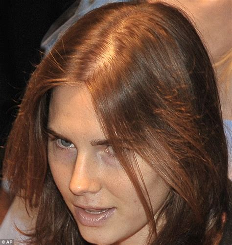 amanda knox murder appeal thinning locks show toll