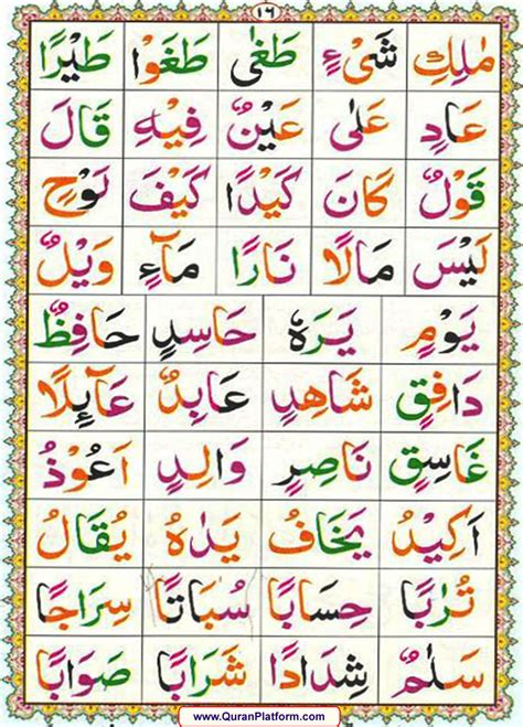 page 16 quran teaching platform qaida 1 noorani qaida