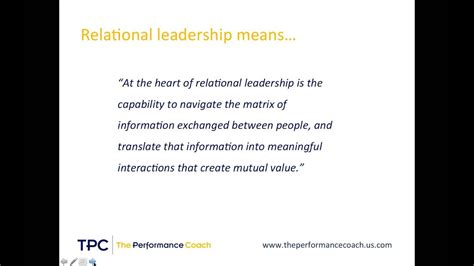 relational leadership  introduction youtube