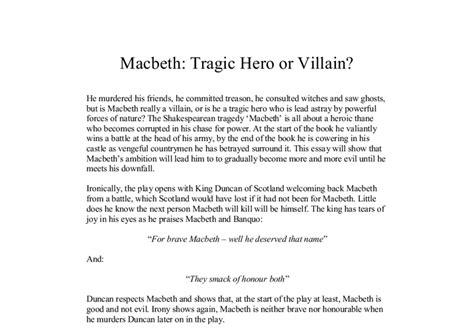 Macbeth Tragic Essay Thesis by Macbeth Tragic Or Villain Gcse Marked