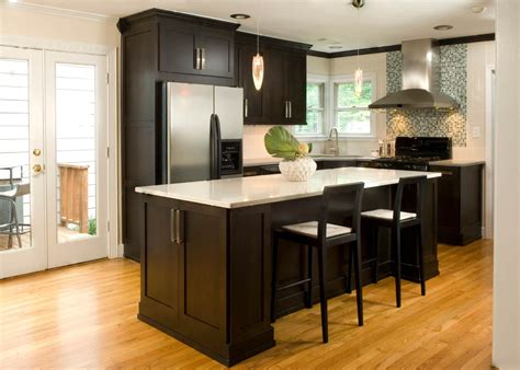 kitchen design tips  dark kitchen cabinets