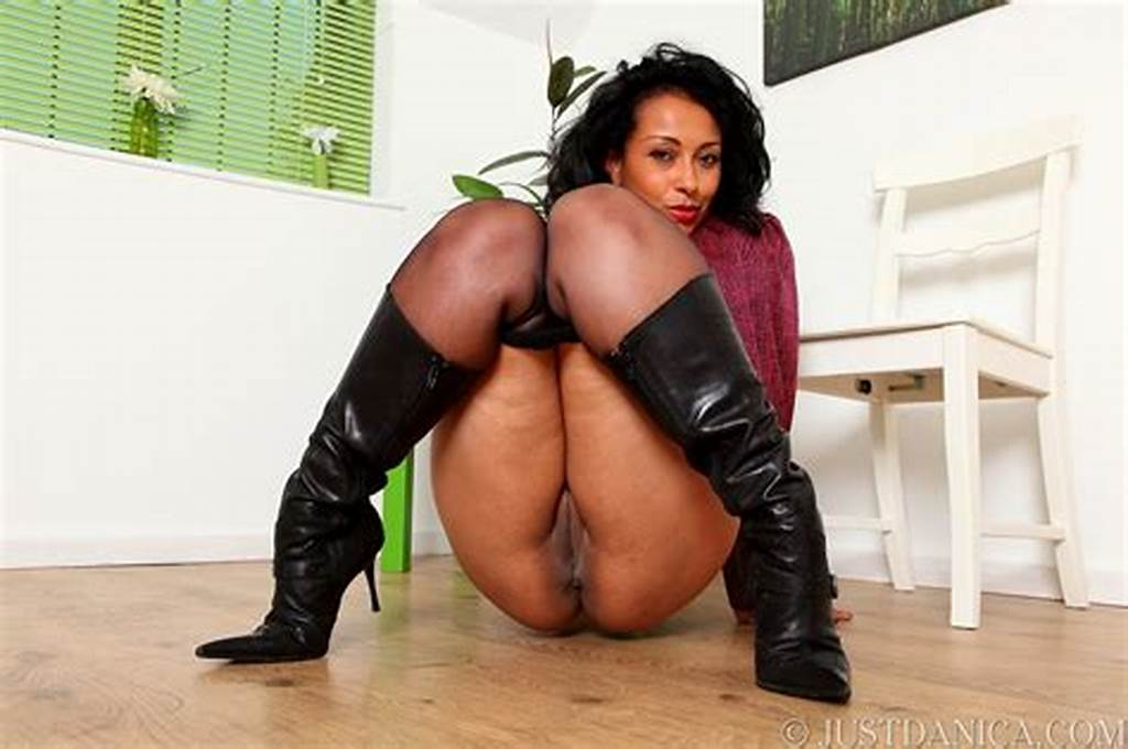 #Danica #In #Leather #Skirt #Pantyhose #And #Boots #From