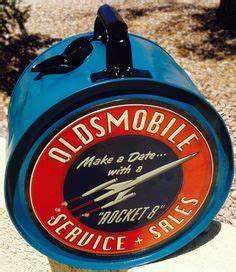 The Oldsmobile Rocket logo in neon sharp