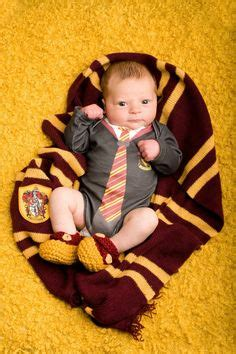 love  harry potter themed baby picture photography