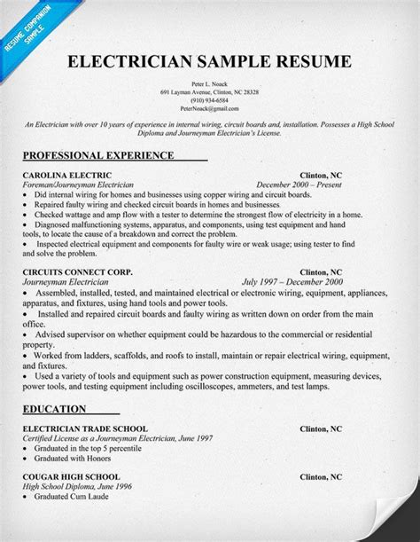 Electrician Helper Resume by Electrician Helper Resume Cover Letter Bfcc