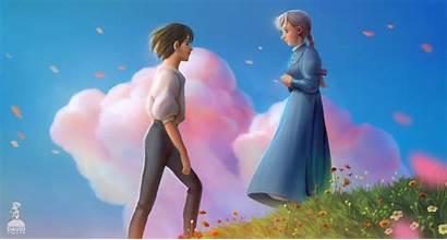 Howl Castle Moving Ghibli Studio Sophie Fan