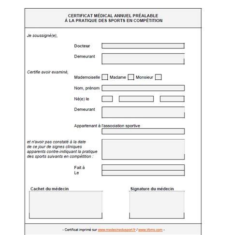 certificat de non contre indication 224 la pratique d un sport antis 232 ches de consultation en