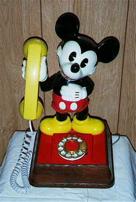 mickey mouse phone andhow antique telephones
