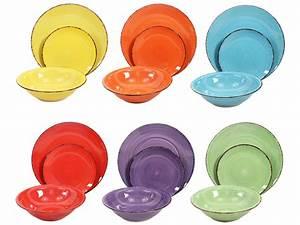 Vaisselle En Grès : d coration art de la table assiettes et sets complets set vaisselle 39 39 palma 39 39 18 pi ces ~ Dallasstarsshop.com Idées de Décoration