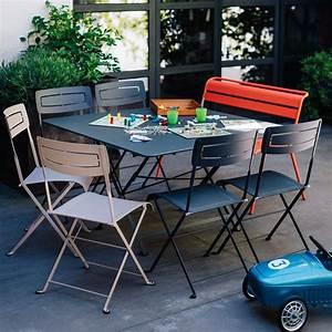 salon de jardin fermob cargo 8 pers carbone muscade With salon de jardin fermob