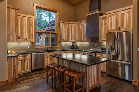 Hickory Cabinets With Granite Countertops by Efficient Mountain Contemporary Contemporary Kitchen