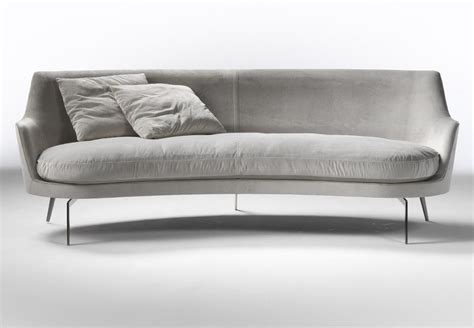 Curved Loveseat Sofa by Curved Sofas Cococozy
