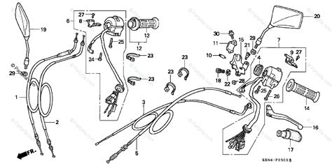 Honda Motorcycle Oem Parts Diagram For Handle Switch