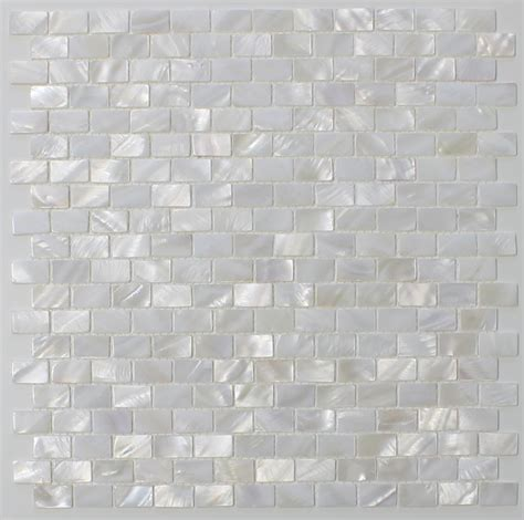 white mosaic tile of pearl oyster white small subway mosaic tiles