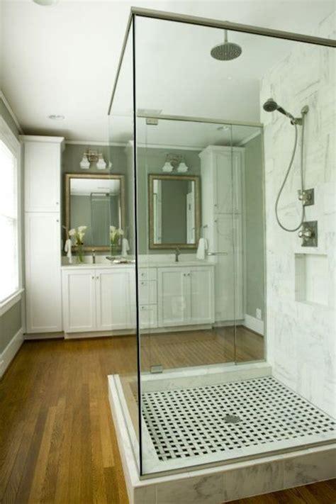 freestanding shower transitional bathroom twin companies