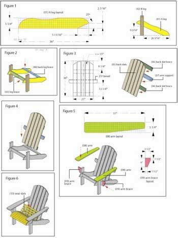 plans easy adirondack chair plan  red stain